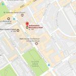 Kart til Ambassadors Bloomsbury hotell